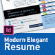 Modern Elegant Resume - GraphicRiver Item for Sale