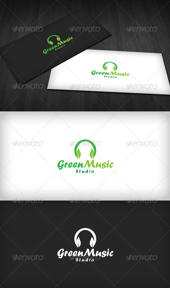 Green Music Logo - Nature Logo Templates