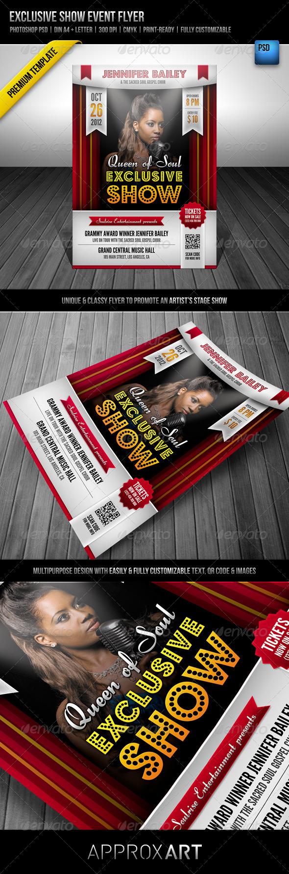Exclusive Show Event Flyer - Miscellaneous Events