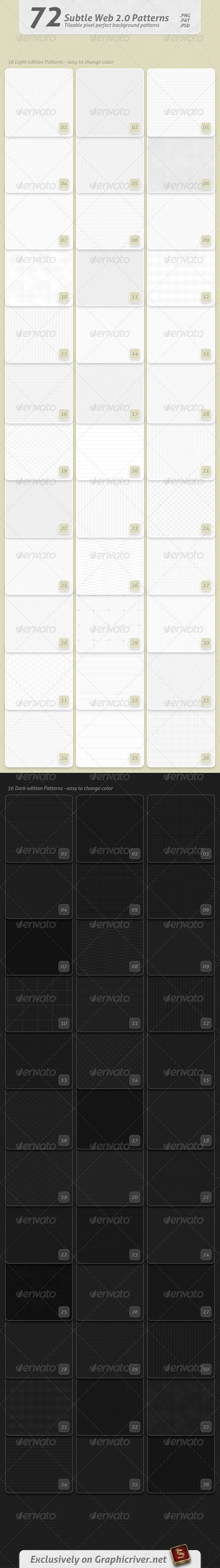 GraphicRiver 72 Subtle Web 2.0 Patterns 2386669