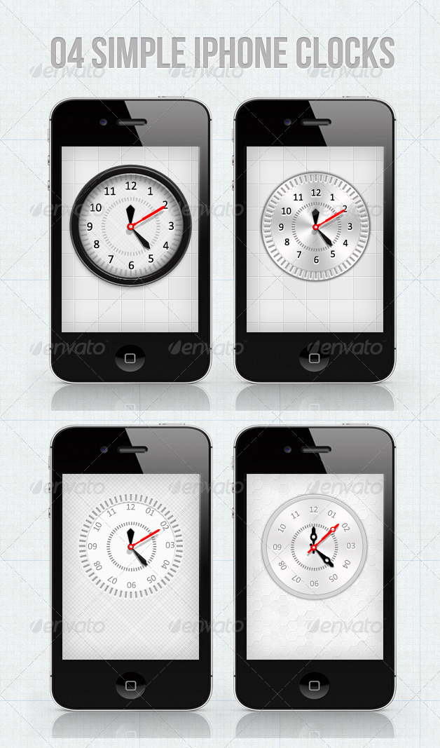 GraphicRiver iPhone Clocks For Your Applications 2387085