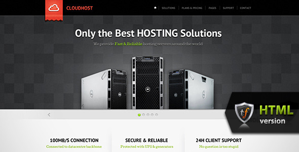 CloudHost - Hosting &amp; Internet Business HTML Theme
