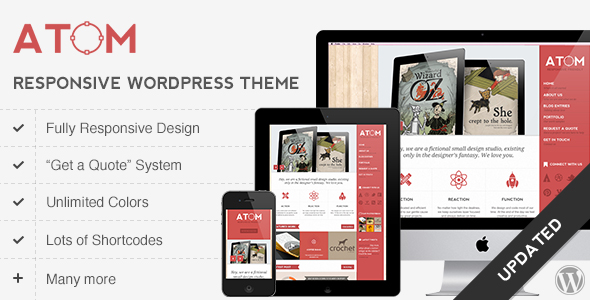 Atom - A Design Studio Full Resposive WordPress