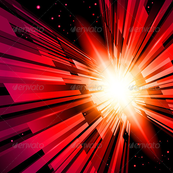Red Radiance - Decorative Vectors
