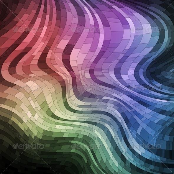 Wavy Mosaic Banner - Abstract Conceptual