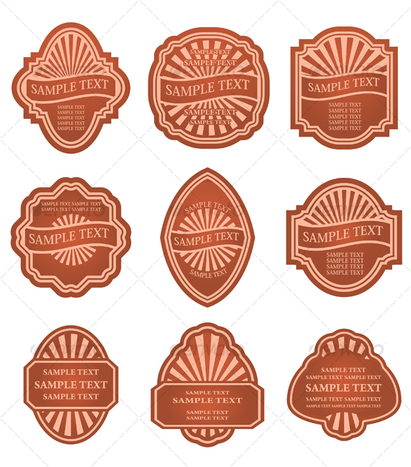 Set of vintage labels - Decorative Vectors