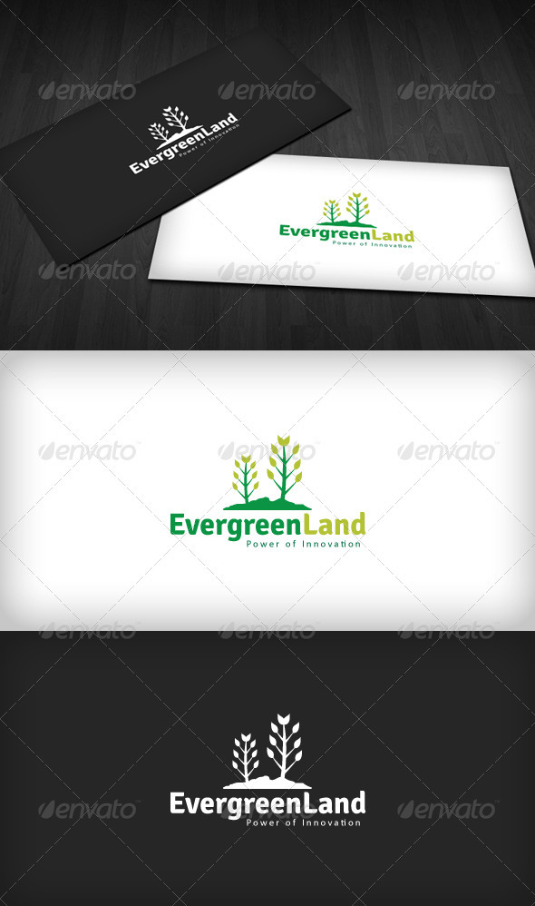 Evergreen Land Logo - Nature Logo Templates