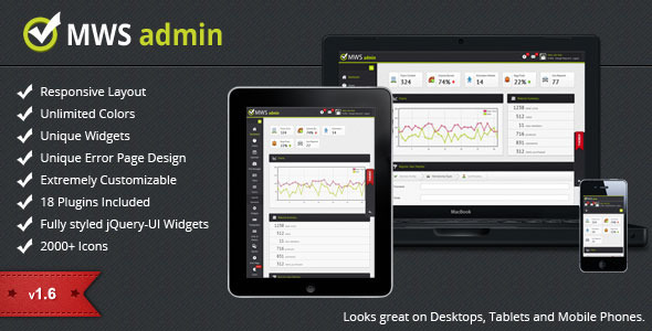 MWS Full Featured Admin Template