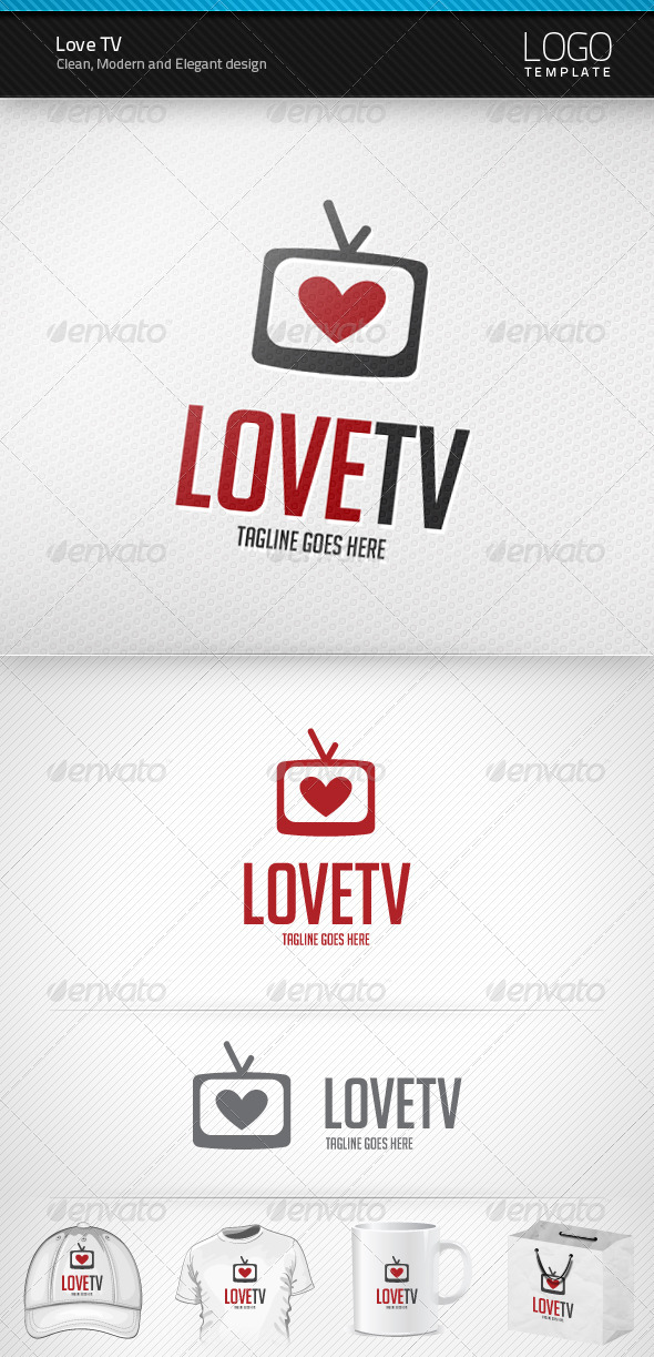 Love TV Logo - Symbols Logo Templates