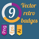 Retro Vintage Badges set - GraphicRiver Item for Sale