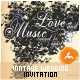 Vintage Music Wedding Invitation - GraphicRiver Item for Sale