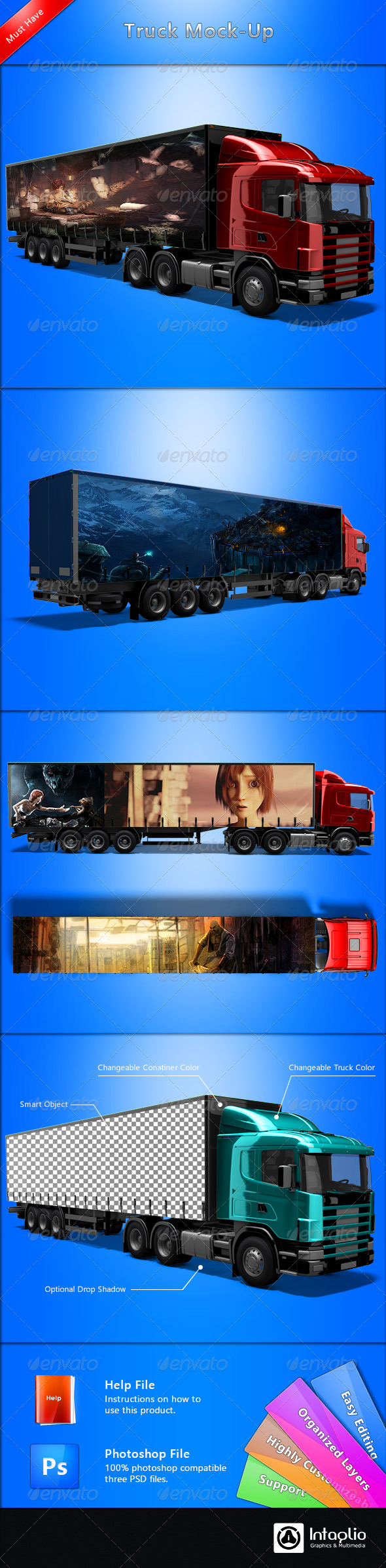GraphicRiver Truck Mock-up 2383120