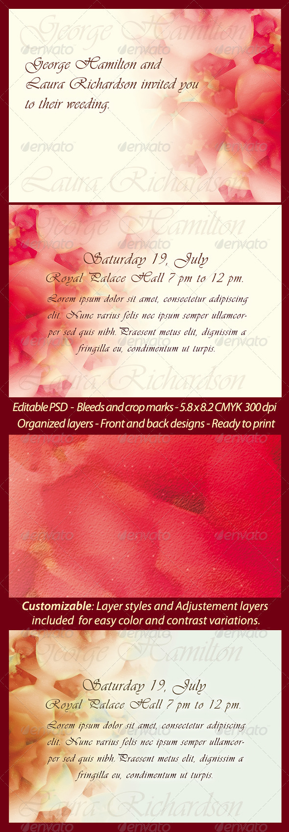 Wedding/Engagement Invitation Template - Weddings Cards & Invites