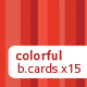Colorful business card set x15 - GraphicRiver Item for Sale