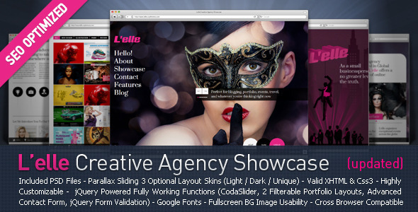 L'elle Creative Agency Showcase - Creative Site Templates