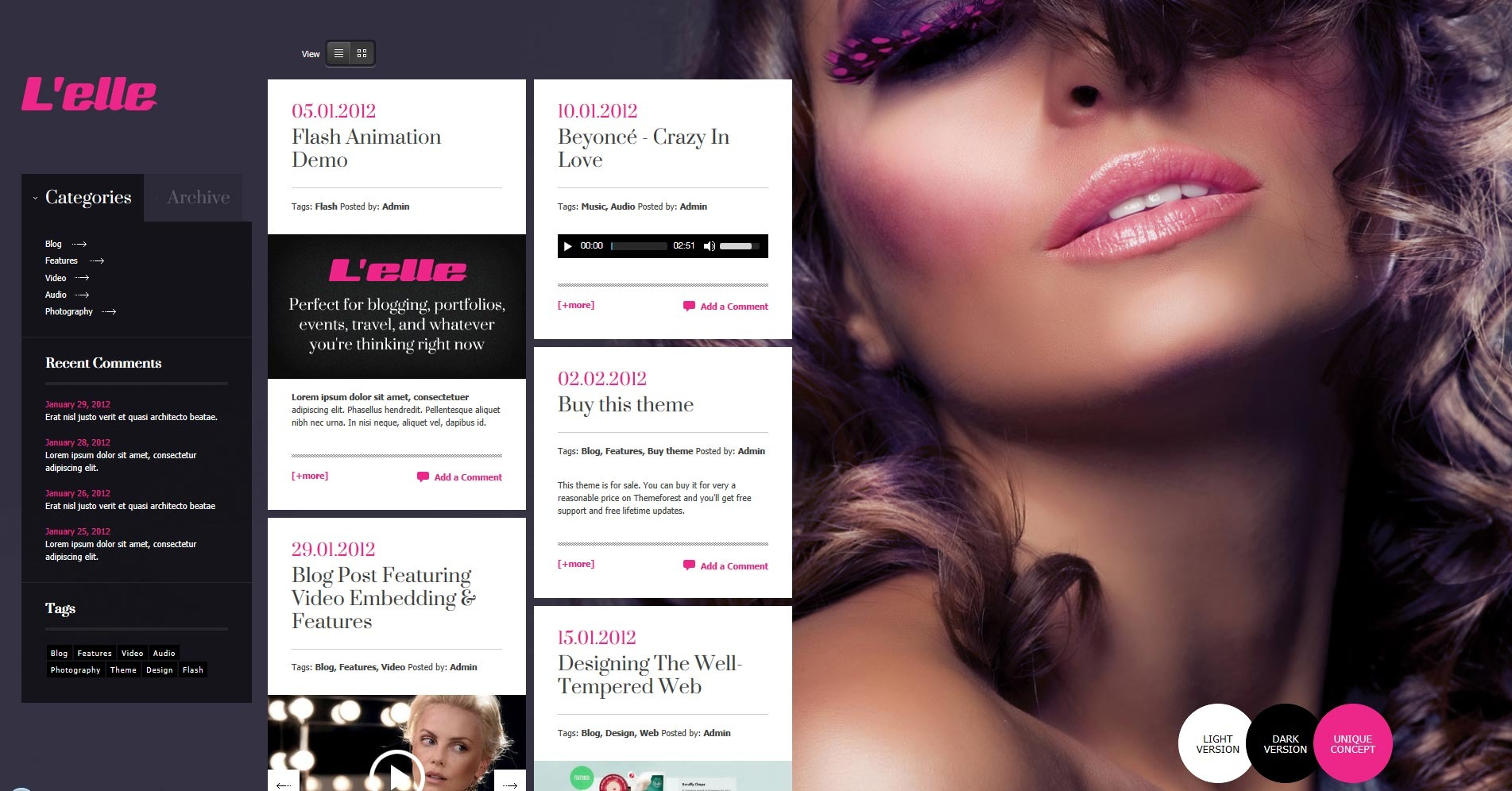 L'elle Creative Agency Showcase - blog page grid view