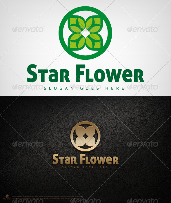 Star Flower - Abstract Logo Templates