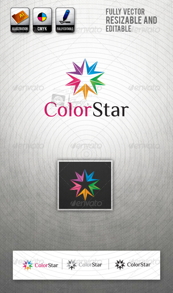 GraphicRiver ColorStar Logo Template 2396816