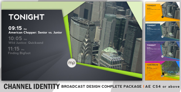After Effects Project - VideoHive Broadcast Complete Package Channel Identi ...