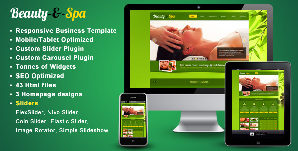 Beauty-spa - Responsive website template