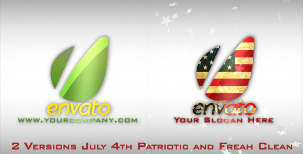 After Effects Project - VideoHive Fresh & July 4th Patriotic Logo Opener 2397948