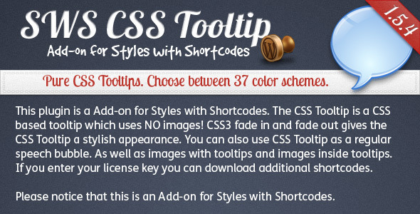 SWS: CSS Tooltip add-on for Styles With Shortcodes