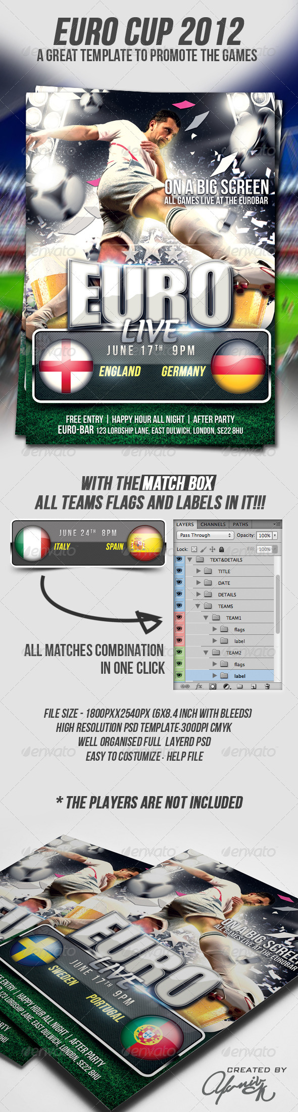 Euro Cup Flyer Template - Flyers Print Templates