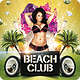 Summer Beach Club Flyer Template - GraphicRiver Item for Sale