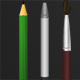 Pencil, pen and brush icons - GraphicRiver Item for Sale