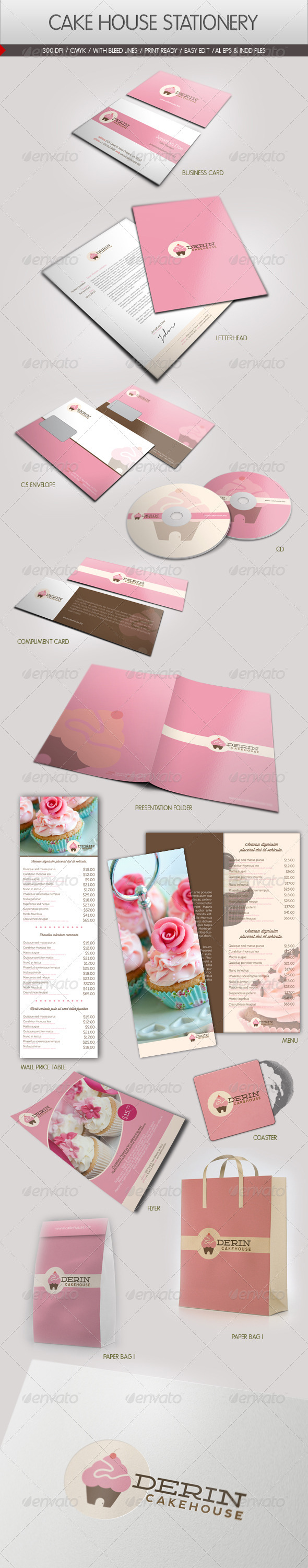 GraphicRiver Cake House Corporate Identity 2400805