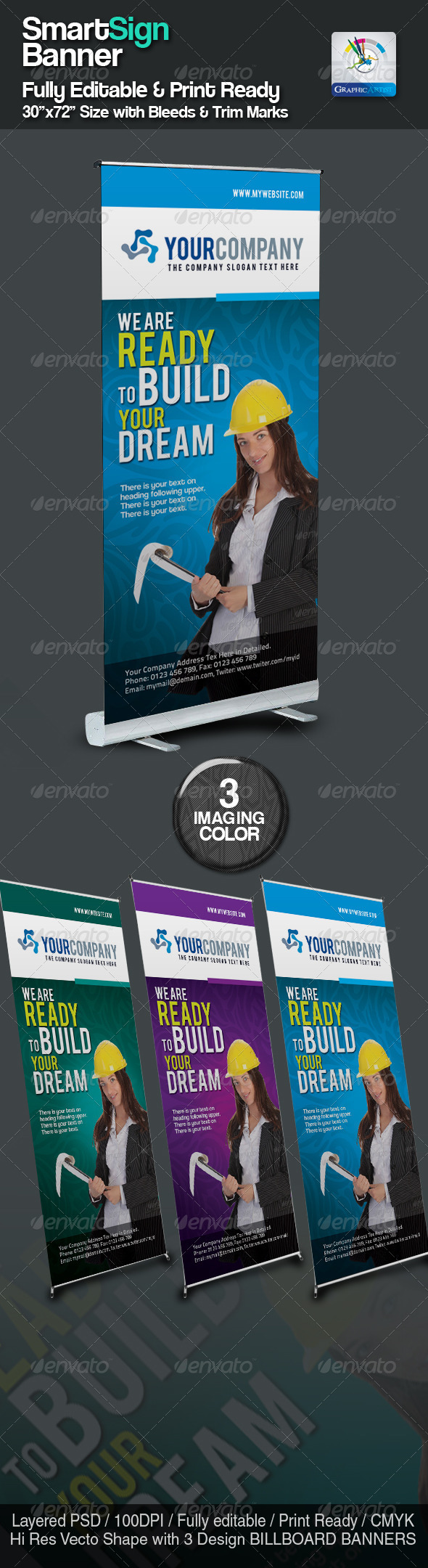 GraphicRiver SmartSign Banner Billboard Templates 2401103