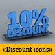 Icons set Discount - GraphicRiver Item for Sale