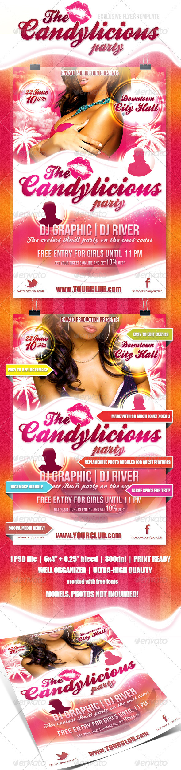 GraphicRiver Candylicious Party flyer 2334574