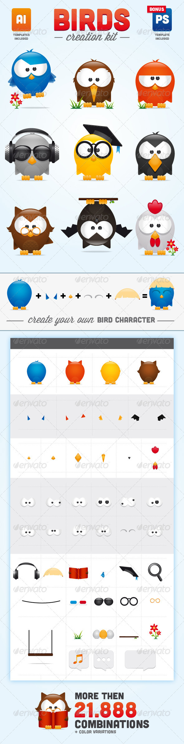Birds Creation Kit - Animals Characters