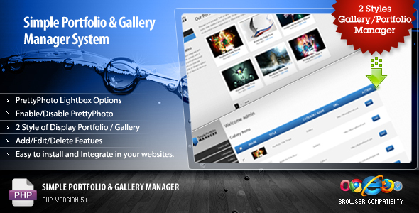 CodeCanyon Simple Portfolio & Gallery Manager PHP 88556