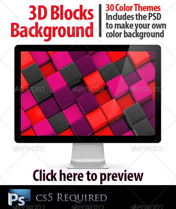 3D Blocks Background - 3D Backgrounds