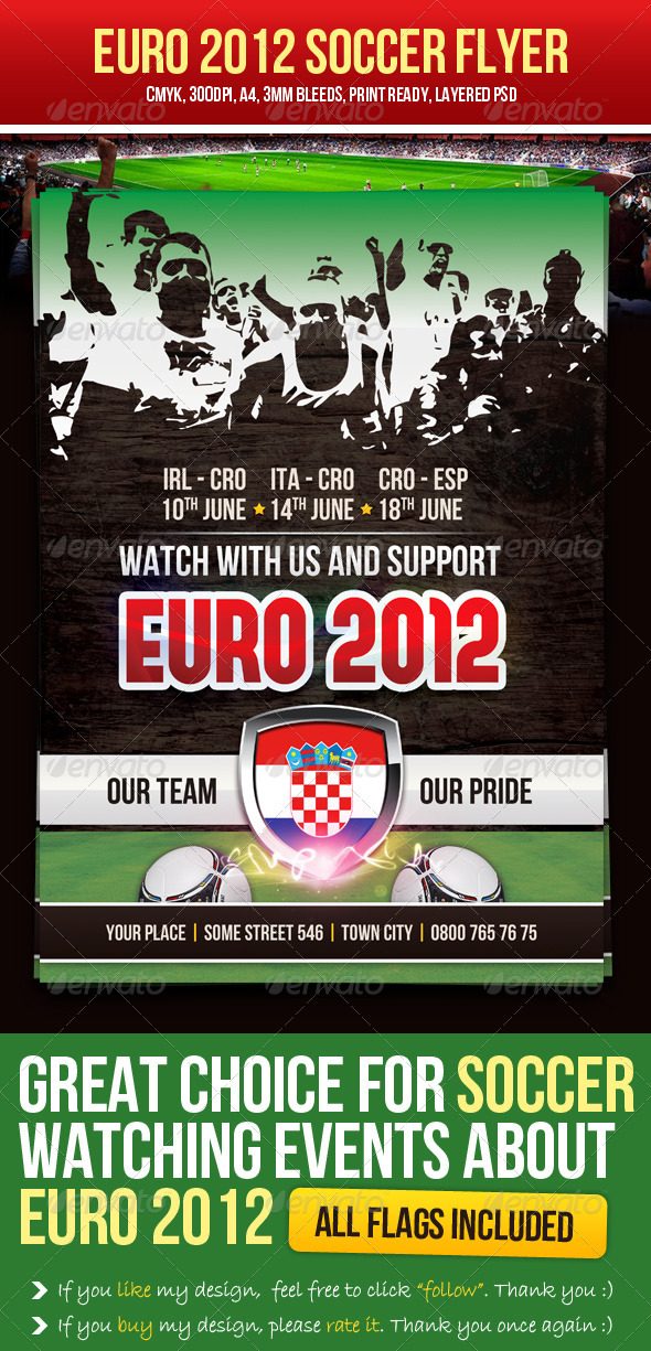 Euro 2012 Soccer Flyer - Sports Events