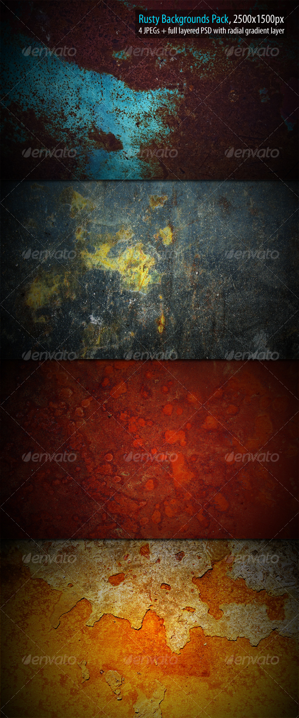 GraphicRiver Rusty Backgrounds Pack 88613