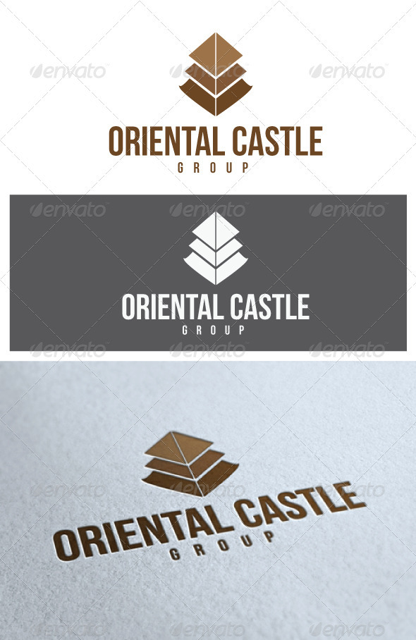 Oriental Castle Logo - Buildings Logo Templates