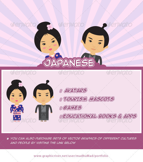 Japanese Couple - People Characters