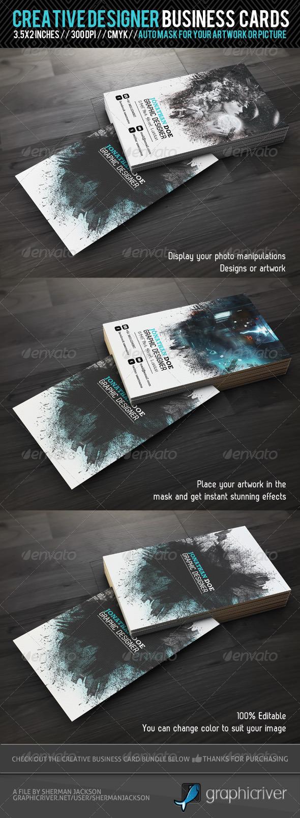 GraphicRiver Creative Designer Business Card 1685337
