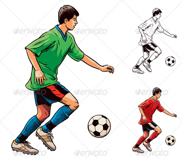 Soccer Football Player - People Characters