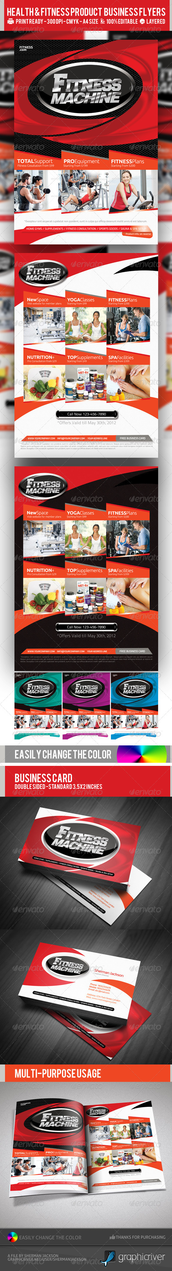Multipurpose Fitness or Product Flyer PSD Template - Corporate Flyers
