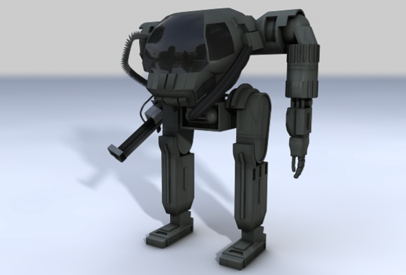 3DOcean Attack Suit 3D Models -  Fantasy and Fiction  Robots and Machines 88285