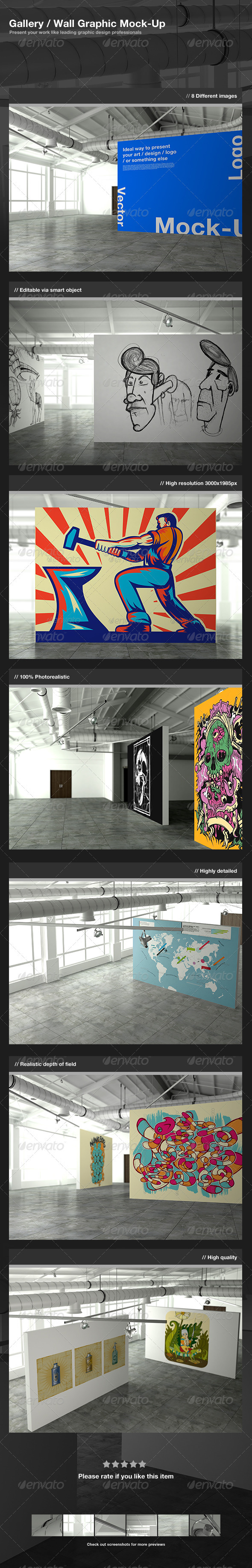 Gallery / Wall Graphic Mock-Up - Miscellaneous Displays