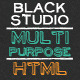 The Multi Purpose Black Studio HTML - ThemeForest Item for Sale