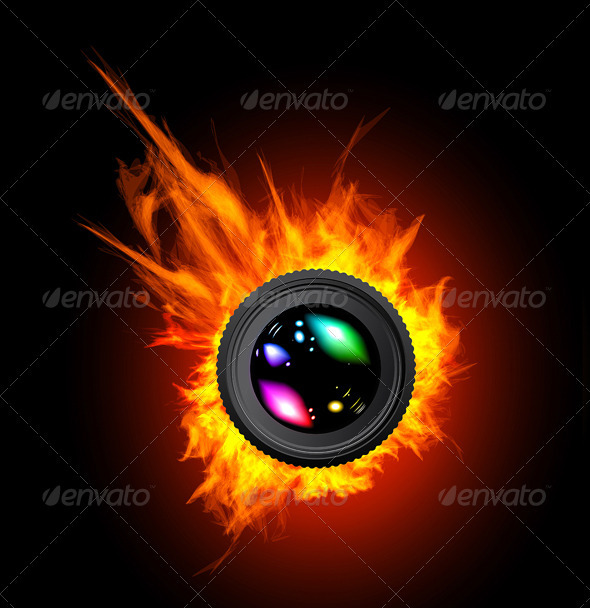 Burning The Camera Lens - Man-made objects Objects