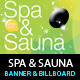 Spa & Sauna Multipurpose Banner & Billboard PSD - GraphicRiver Item for Sale