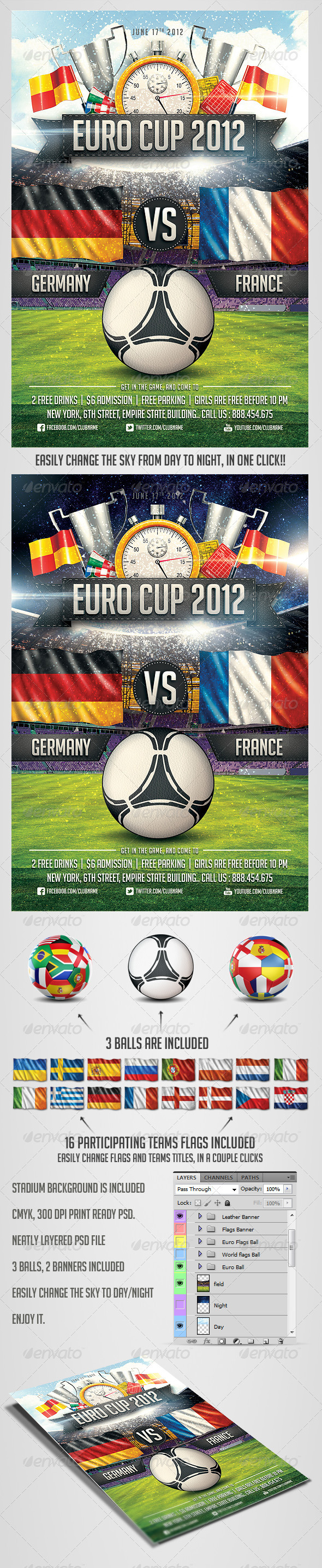 Euro Soccer flyer Vol.2 - Sports Events