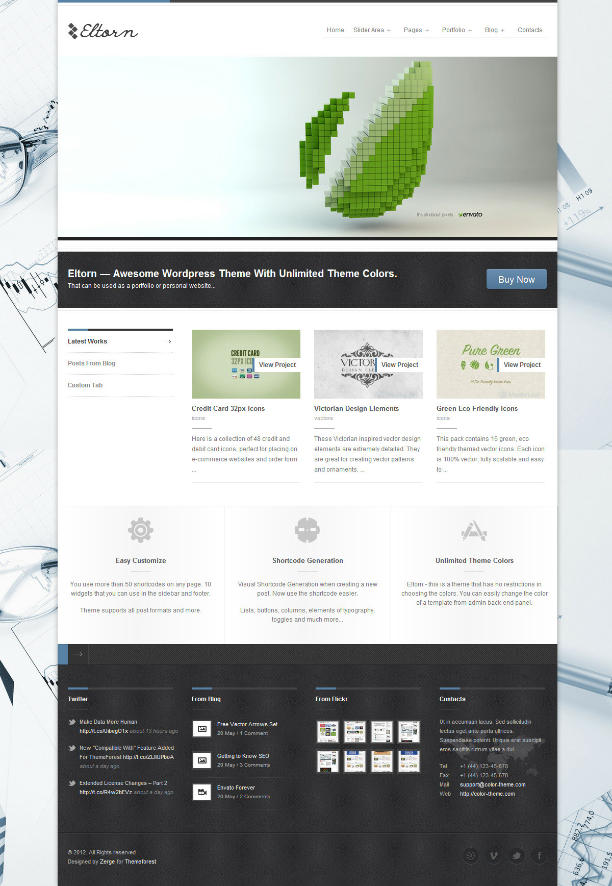 Eltorn - Premium WordPress Theme - Home Page